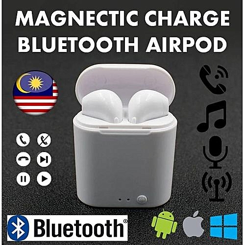 6c489e0b551 Generic I7 Mini TWS Airpod Wireless Earbuds Magnetic Charging  BluetoEarphone Bluetooth Headset For Android Iphone High- Quality Wireless  Stereo Bluetooth ...