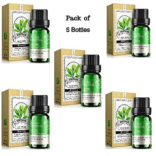 BioAQUA Pure Tea Tree Essential Oil - Pack Of 5 Bottles