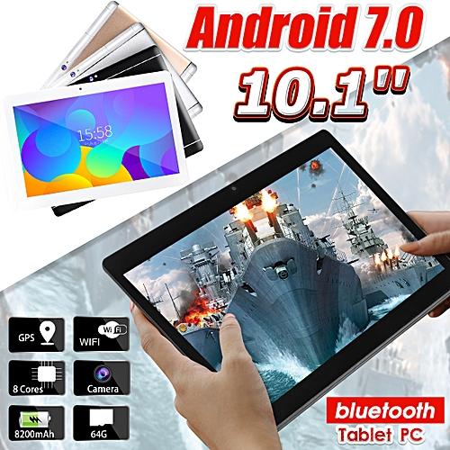 64GB+4G Android 7.0 Black Tablet PC Octa 8 Core HD WIFI Bluetooth 2 SIM 4G 10.1'' Hot