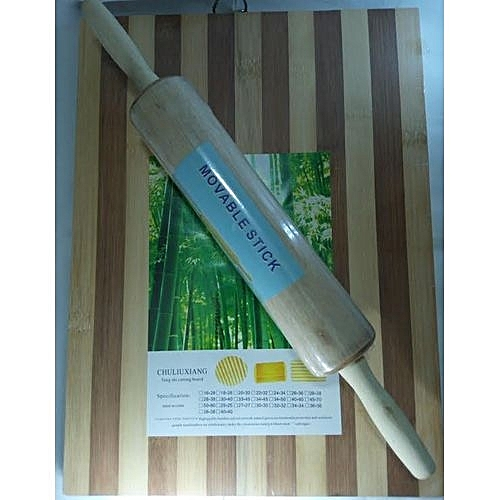 Bamboo Chopping Board And Movable Rolling Pin