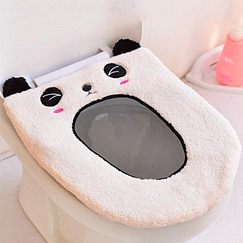 Shinewerop 1PC House Practical Cute Cartoon Modeling Plush Toilet Seat Cushion
