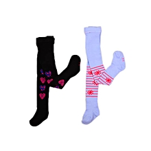 7db579a9c48 Patterned Luxury Pop Socks Tight - 2 In 1pack