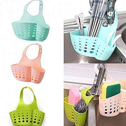 Kitchen Sink Drain Bag Hanging Sponge Storage Basket