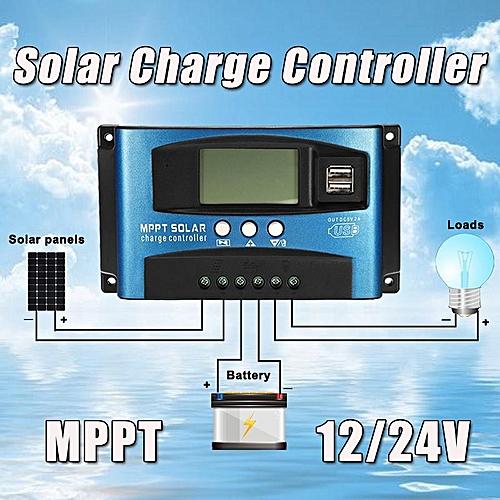 40/50/60/100A 12/24V MPPT Solar Panel Regulator Charge Controller Solar Control