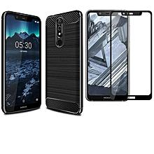Nokia X5/5.1 Plus Soft TPU Case + Full Cover Screen Protector