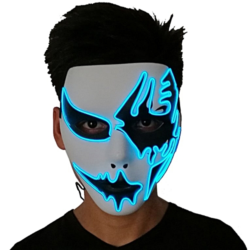 Generic Mask With LED Light For Party Halloween Dance Birthday Party Carnival