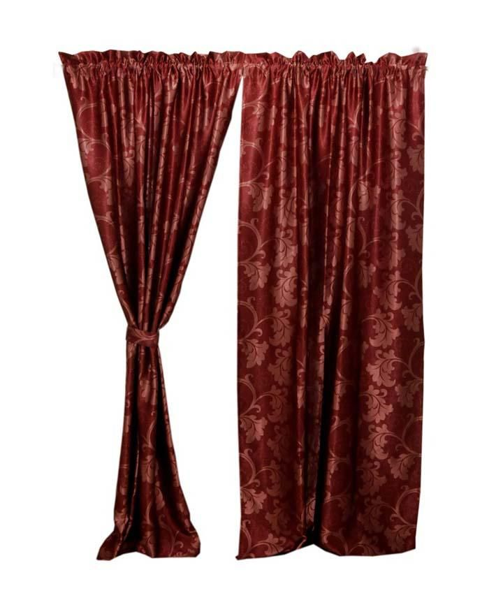 Royale Curtains with Tie-Backs - Red