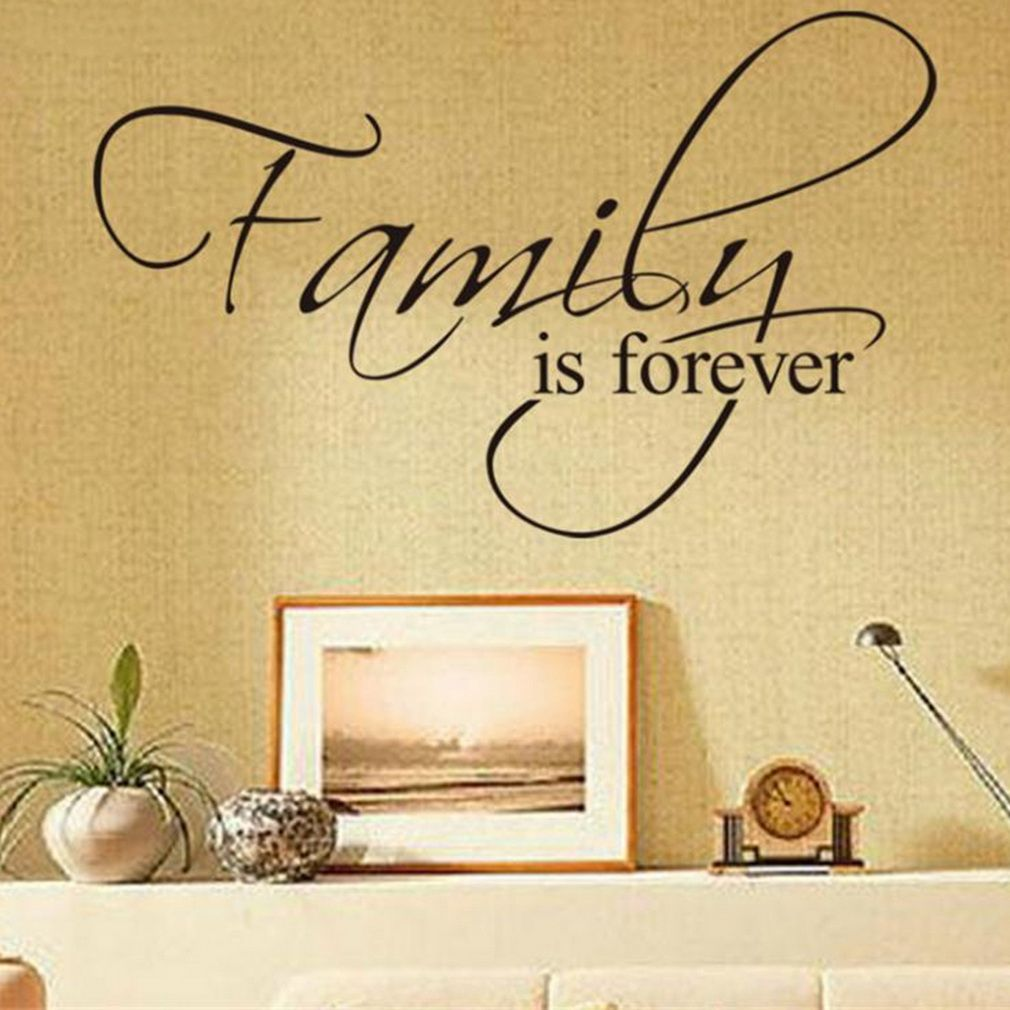 allwin family is forever removable art vinyl wall stickers decal mural home decor buy online. Black Bedroom Furniture Sets. Home Design Ideas