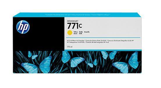 771C 775-ml Yellow DesignJet Ink Cartridge - B6Y10A