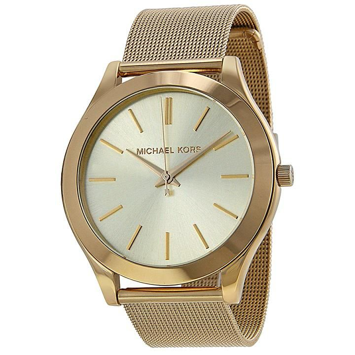 Ladies Slim Runway Mesh Watch MK3282 - Gold