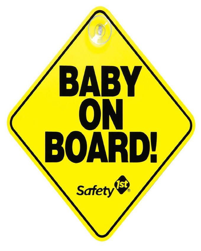 Baby on Board Sign - Yellow