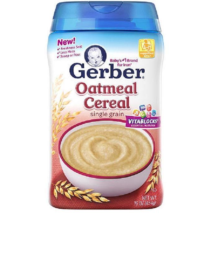 Gerber Oatmeal Cereal Single Grain 16oz 454g