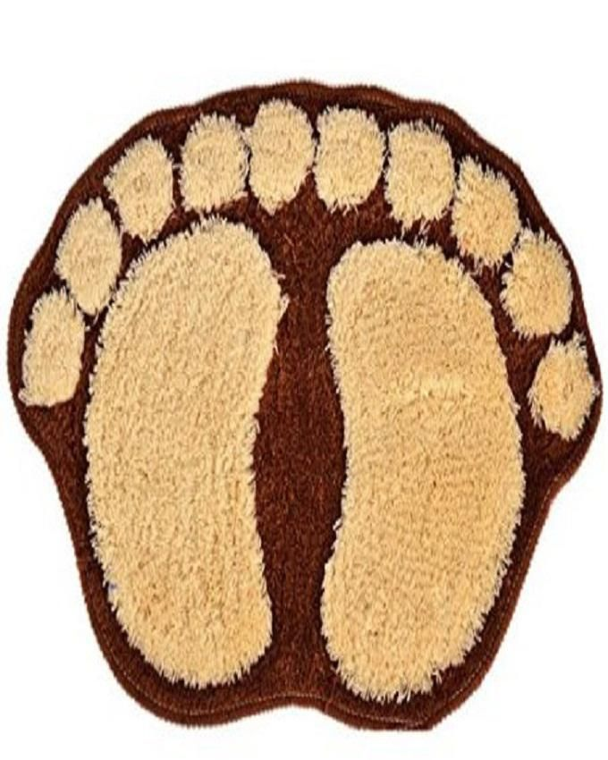 Door Mat Cartoon big feet- Brown and beige