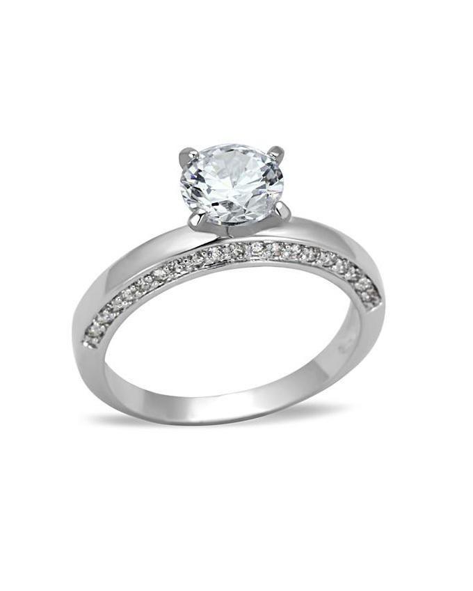 ZenZen Rhodium CZ Engagement Ring Buy Online Jumia Nigeria