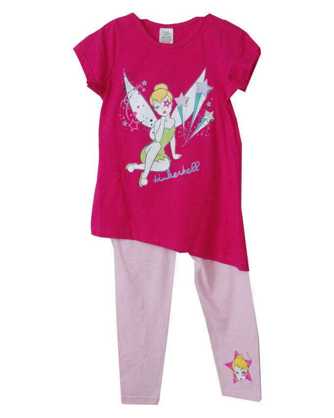 Girls Pink Tinker Bell Character Pyjamas