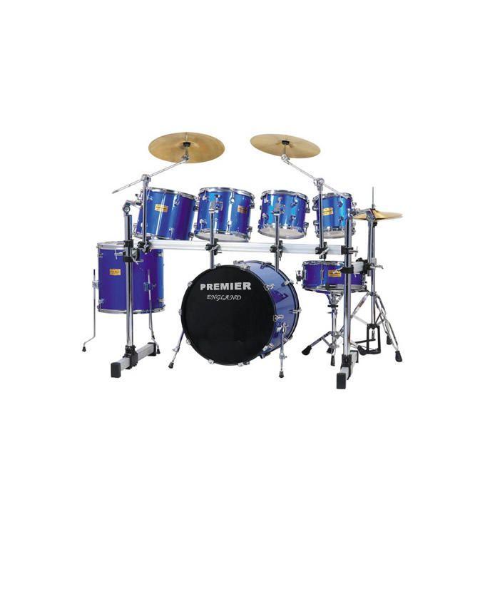 7pcs Drum Set - Laser Blue