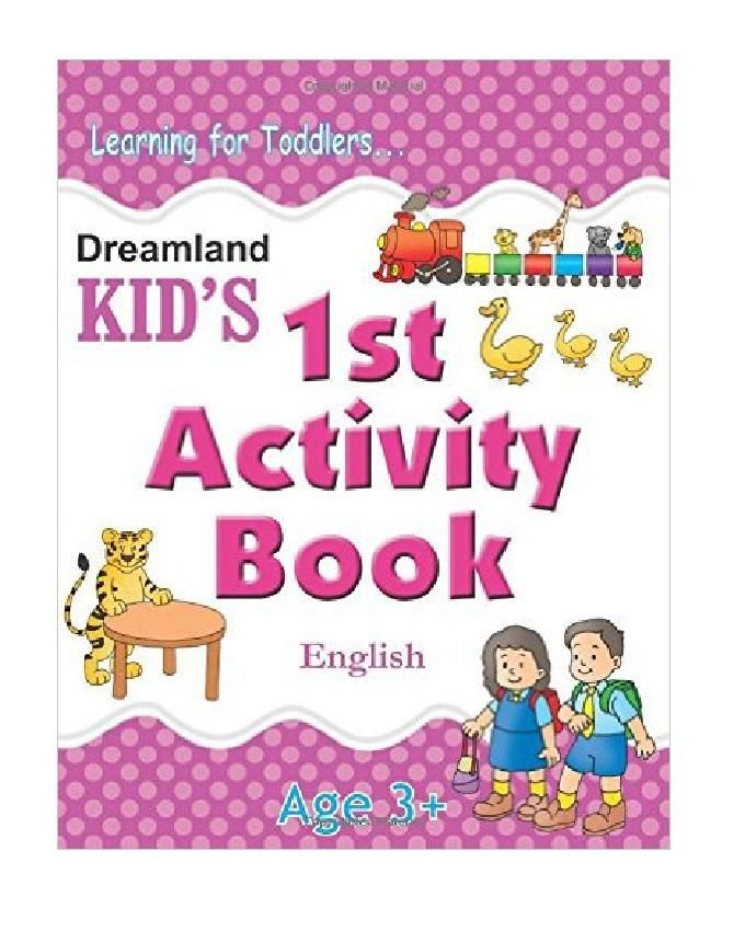 Kid's 1st Activity English Book - Ages 3+