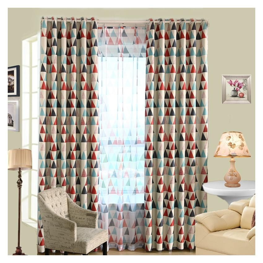 Magideal modern triangle blackout curtains room balcony for Balcony curtains