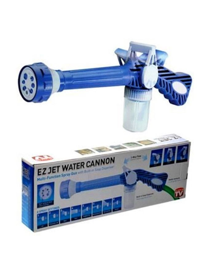 as seen on tv ez jet water cannon 8 nozzles multi function spray gun. Black Bedroom Furniture Sets. Home Design Ideas