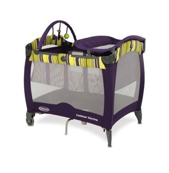 Blackberry Spring Pack N Play Contour Electra - Purple / Lime