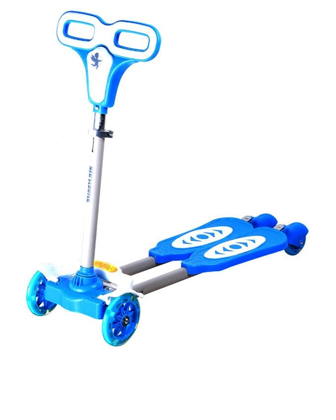 4 Wheel Bicycle Scooter (Frog Kick)- Blue