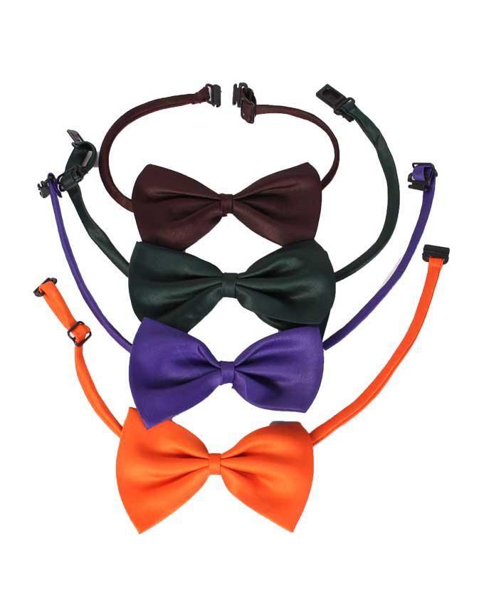 Plain Boy Bow Tie Headband 4 pieces - Multicolor