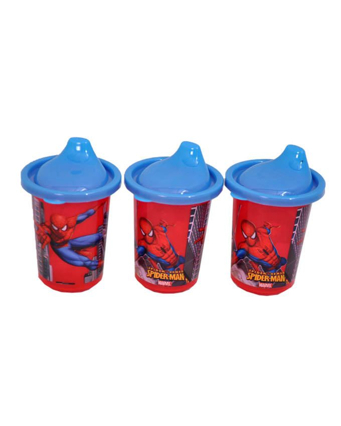 Spiderman marvel- 3 in 1 pack non spill cups-Red and Blue