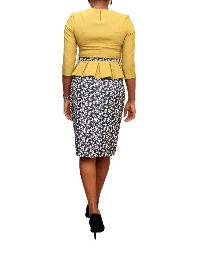 Turkey Multicolored Peplum Top Pencil Skirt | Buy online | Jumia ...