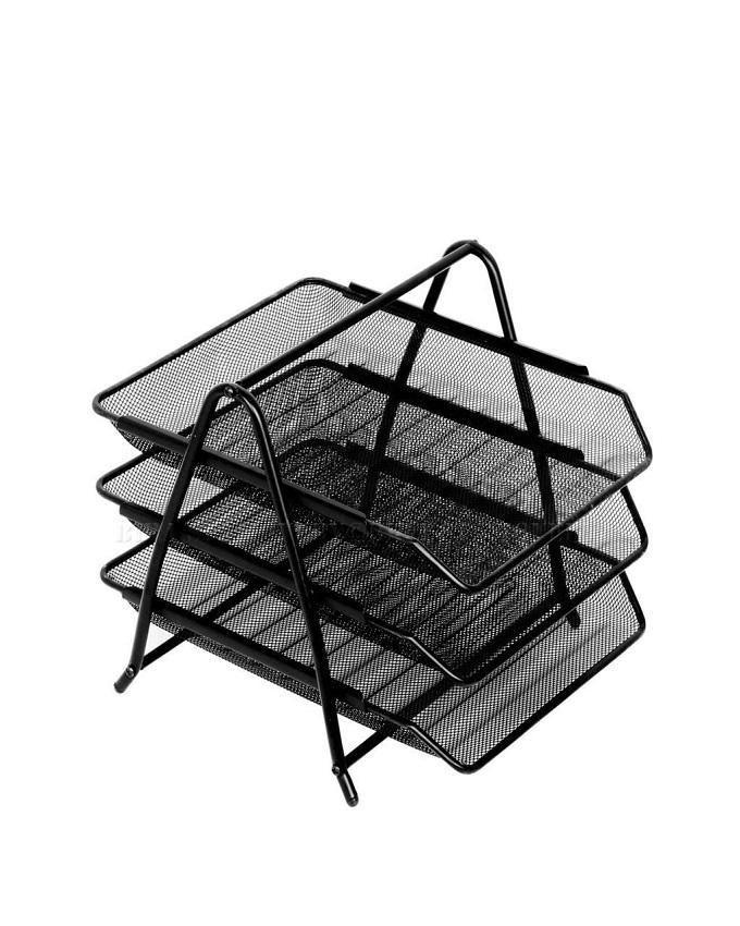 3 Tier Document Rack - Black