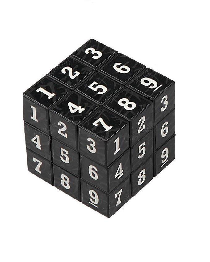 Arabic Numerals Puzzle Cube- Black