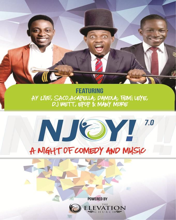 NJOY 7.0 (Nite of Comedy & Music with AY, SACO, Damola) - 2 DVD's