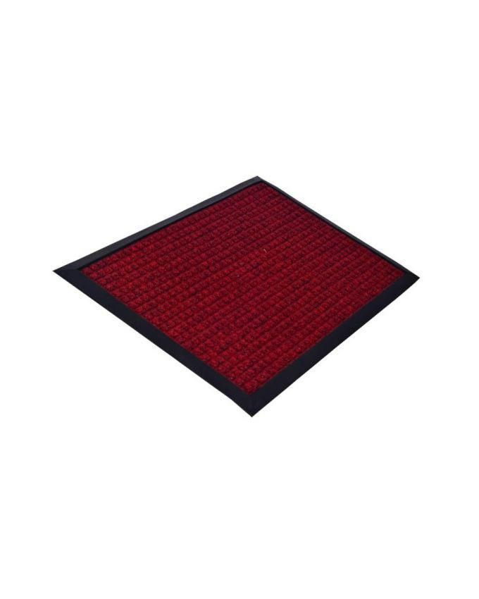 Door Foot Mat - Red and black