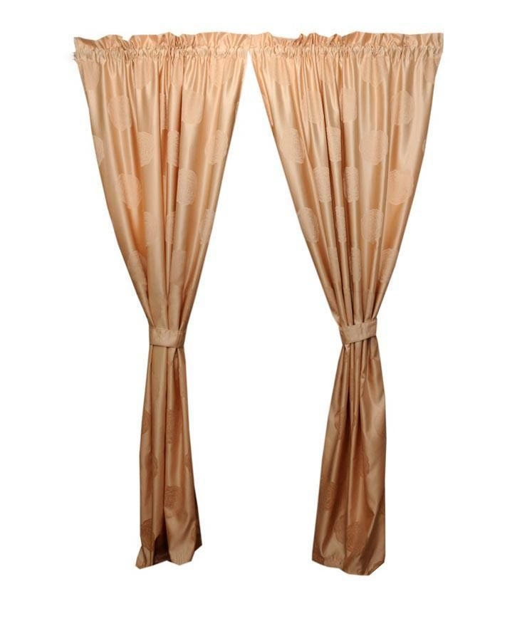 Aziel Curtains with Tie-Backs - Gold