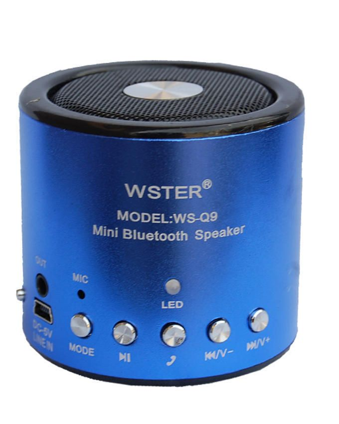 Multi-Functional Rechargeable Music Player WS-Q9 - Blue