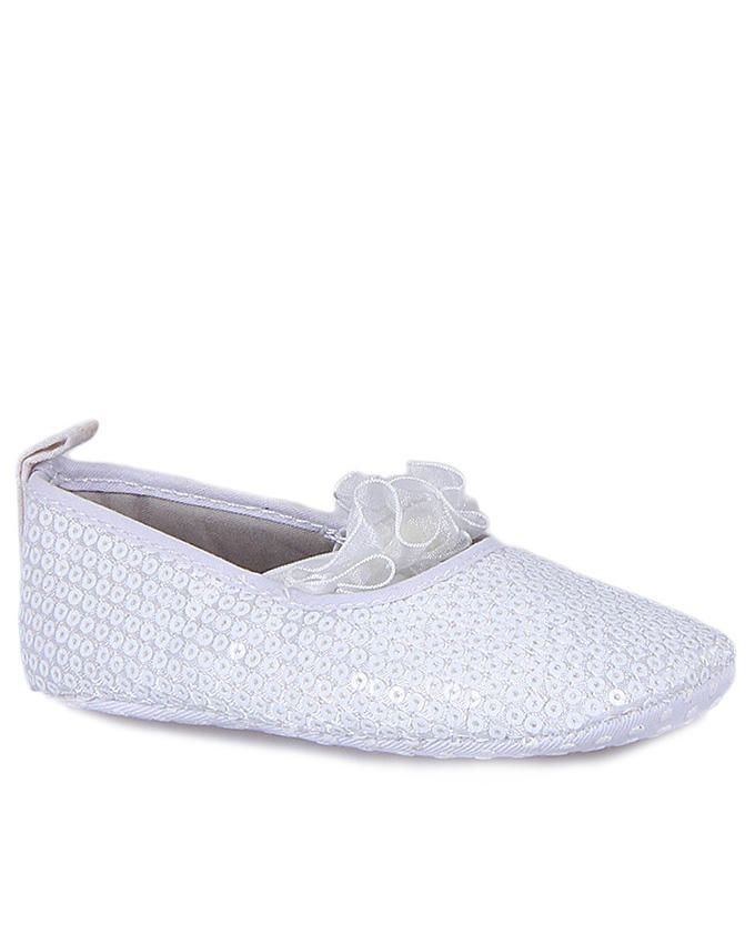Baby Girl Flat Cover Shoe - White