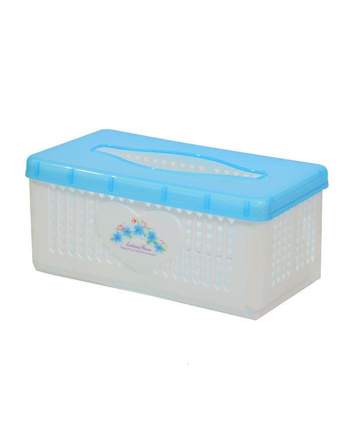 Tissue/Serviette Box - Blue/White