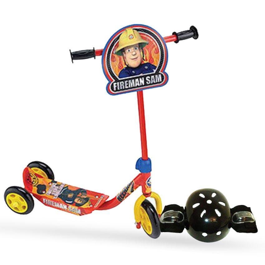 Fireman Sam Tri scooter & Helmet set Bundle
