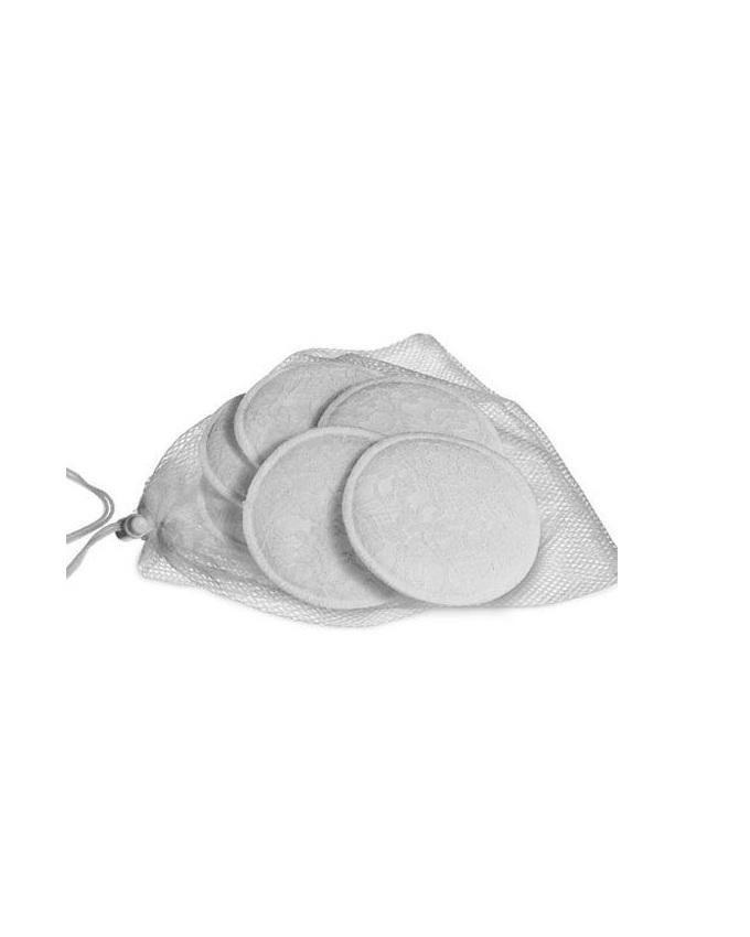 6pcs Elegant Washable Breast Pad - White