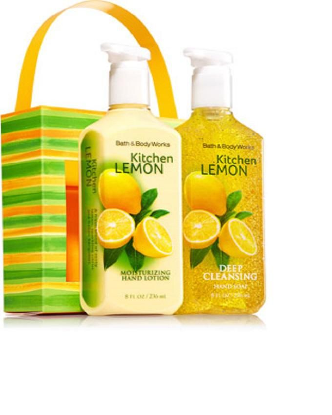 Bath & Body Works Kitchen Lemon Hand Lotion and Gentle Foaming Hand Soap