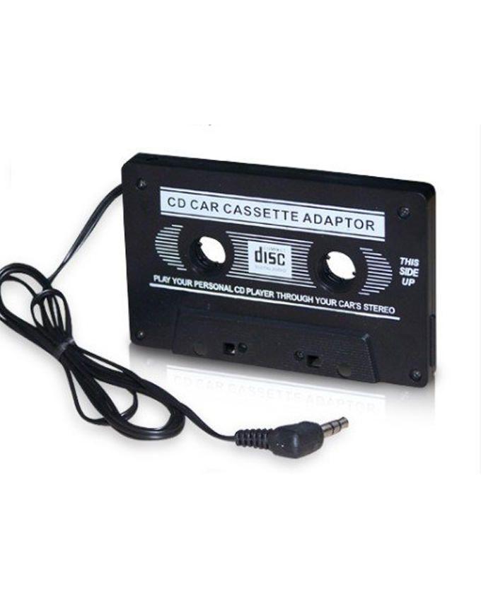 Car Cassette Adapter for iPod/MP3/MD/CD - Black