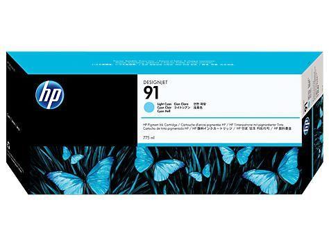 91 775-ml Pigment Light Cyan Ink Cartridge - C9470A