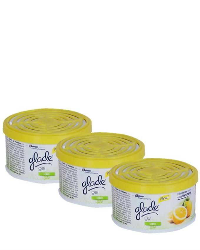 Glade Lemon Fragrance Air Freshener Gel - Pack of 3