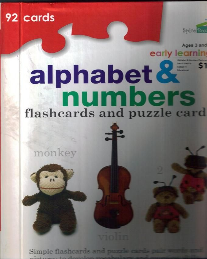 Early Learning Alphabet & Numbers: 92 Flashcards & Puzzle Cards