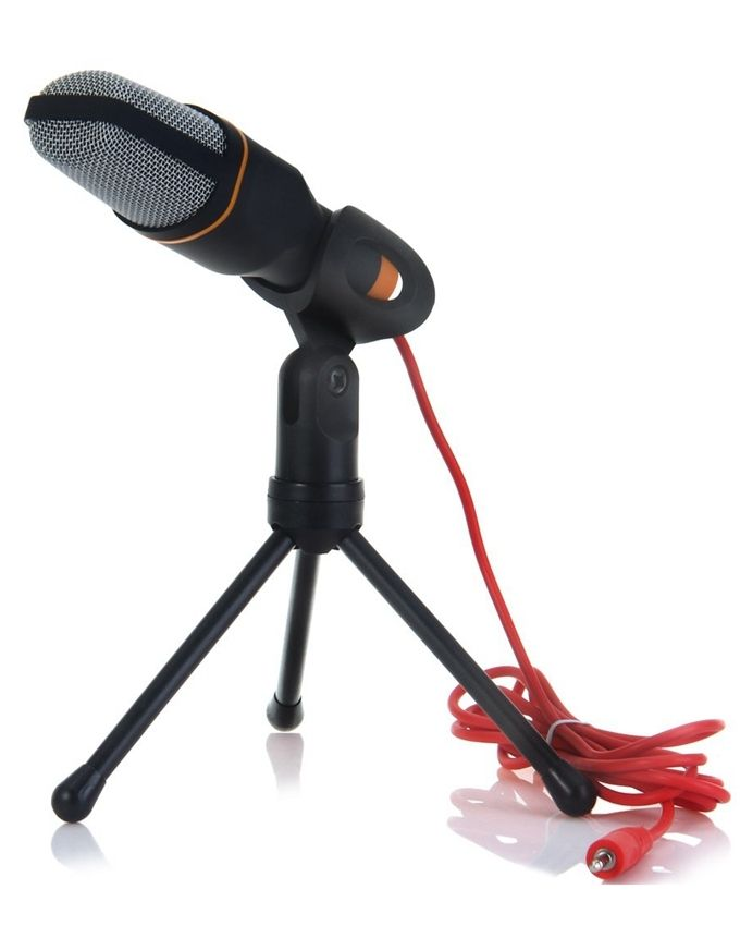 generic condenser sound microphone with stand black buy online jumia nigeria. Black Bedroom Furniture Sets. Home Design Ideas