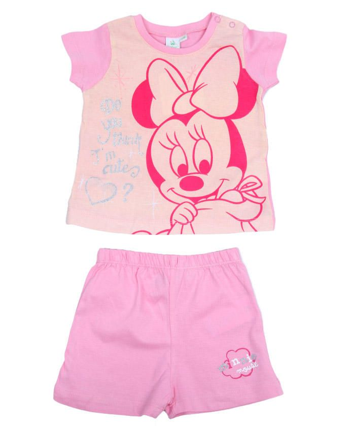 I'm Cute Minnie Mouse Top & Shorts set - Pink