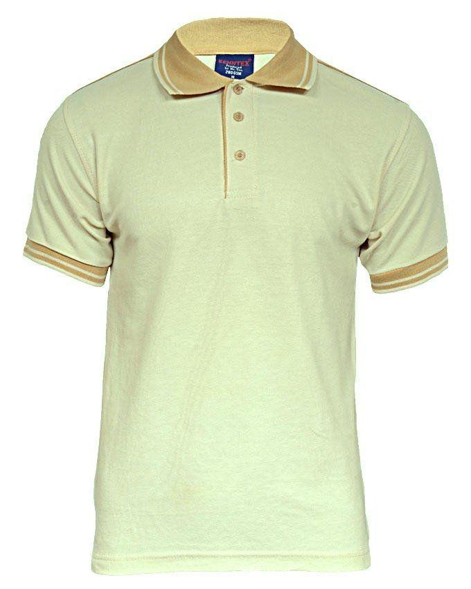 Victan short sleeve polo shirt cream light brown buy for Light brown polo shirt