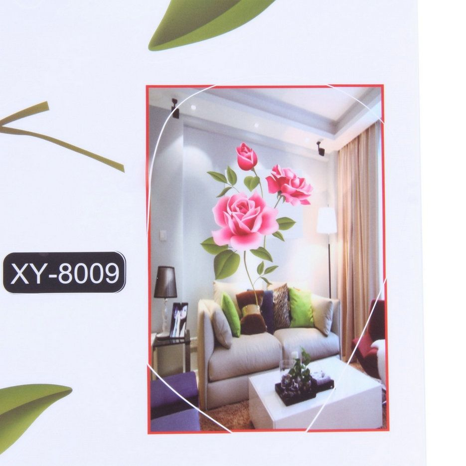 allwin rose flower wall stickers removable decal home