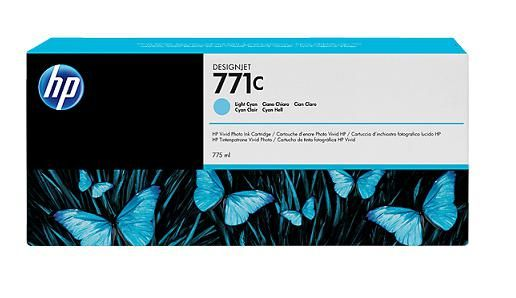 771C 775-ml Light Cyan DesignJet Ink Cartridge - B6Y12A