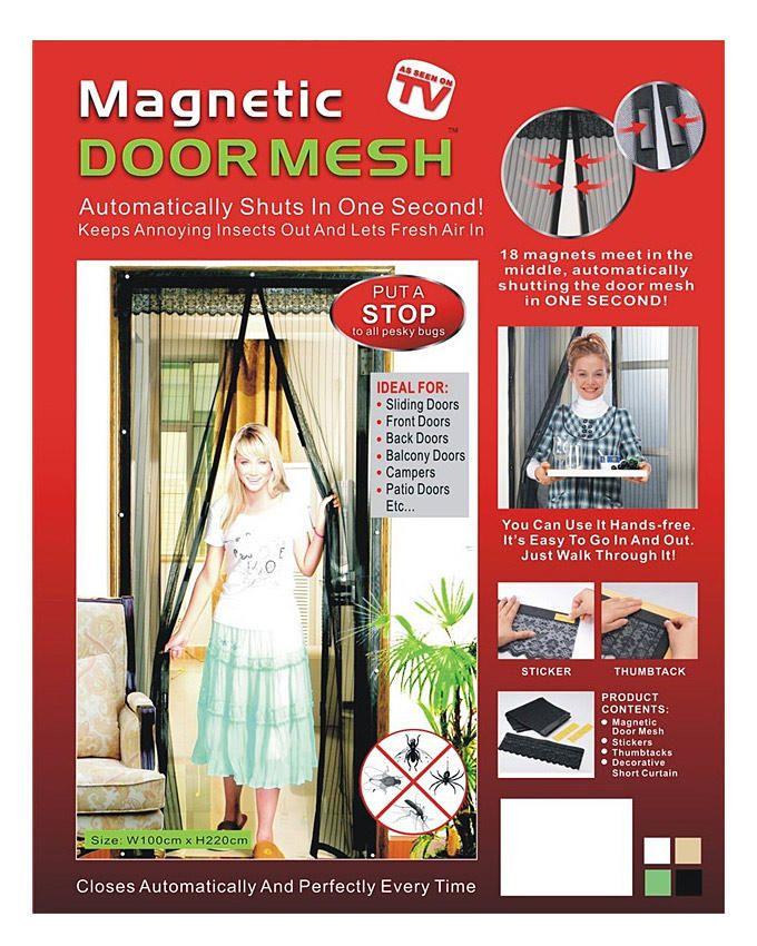 Magnetic Door Mesh - 90cm * 210cm (Yellow)