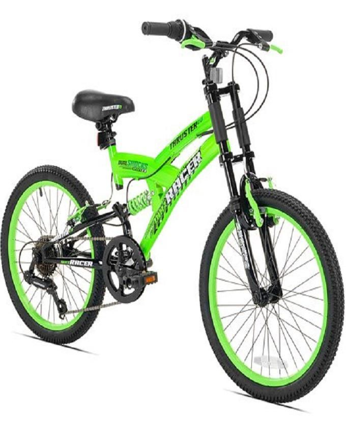 "20"" Dirt MTB Boys' Mountain Bike- Green and black"